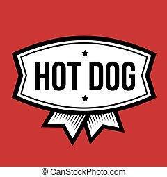 quentes, logotipo, cão, vindima