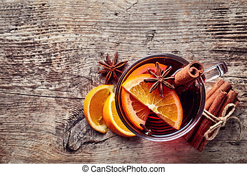 quentes, vinho mulled