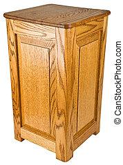 quercia, piedistallo, legno, tavola fine