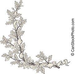 quercia, ramo