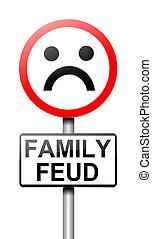 querelle, signe., concept, famille