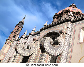 Queretaro\'s Santa Rosa de Viterbo - 18th century church of...