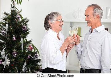 querido, navidad, alegre