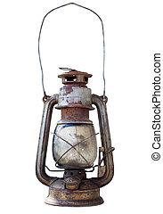 queroseno, viejo, linterna