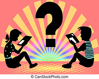 query - boy and girl read