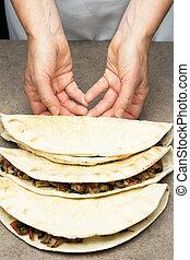 Quesadillas, mexicano