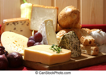 queso, algunos, fuente, orgánico, fresco