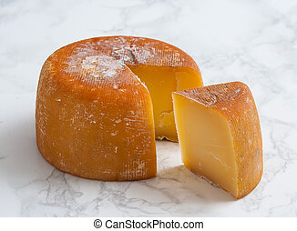 queso, aliva, de, ahumado