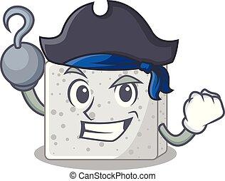 queso, carácter, pirata, feta, caricatura