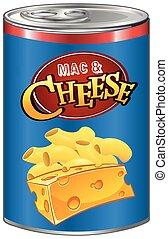 queso, mac, lata