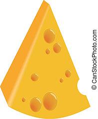 queso, pedazo