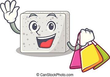 queso, pedazos, compras, feta, carácter
