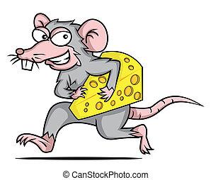 queso, ratón