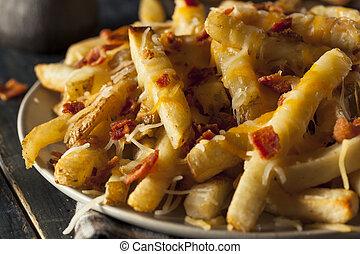 queso, salado, fríe, casero, francés