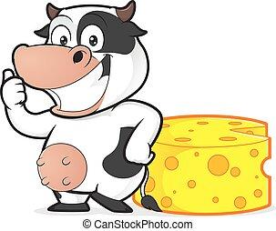 queso, vaca
