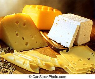 quesos, variedad