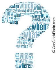 questioms, spørgsmål marker