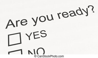 Question and answer: Are you ready - Yes. Conceptual 3D...