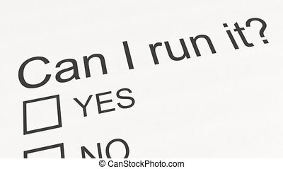 Question and answer: Can I run it - Yes. Conceptual 3D...