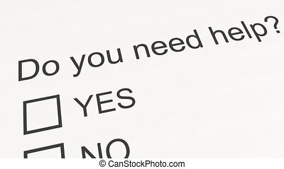 Question and answer: Do you need help - Yes. Conceptual 3D...