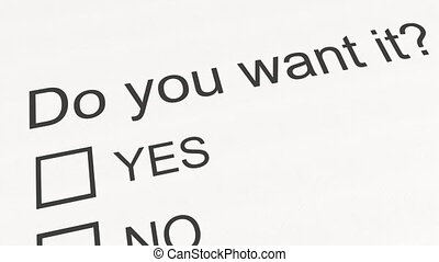 Question and answer: Do you want it - Yes. Conceptual 3D...