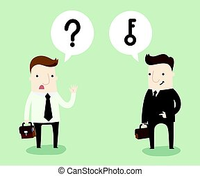 Question and answer in business