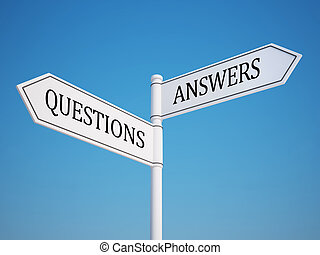 Question and Answer Signpost with C - Question and Answer ...
