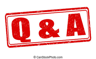 Question and answer stamp - Question and answer ( Q & A ) ...