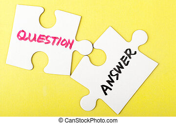 Question and answer words