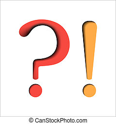Question and exclamation marks