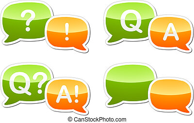 Question answer dialog speech illustration - Question and...