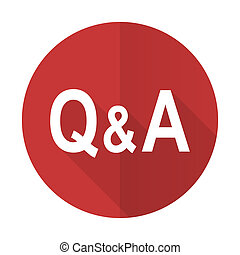 question answer red flat icon