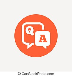 Question answer sign icon. Q