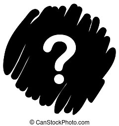 Question button icon vector illustration on black background