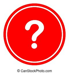 Question button icon vector illustration on red background