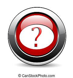 question, button., marque