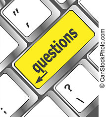 question button on computer keyboard keys
