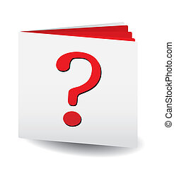Question catalog for any usage, vector illustration
