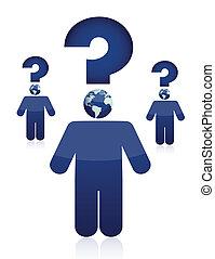 Question concept illustration