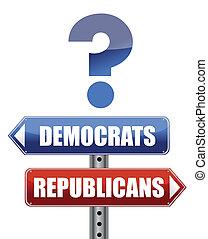 question Democrats and Republicans