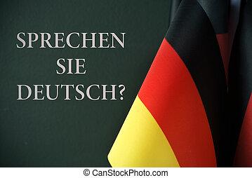 question do you speak german, in german