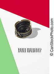 question do you speak Italian, in italian