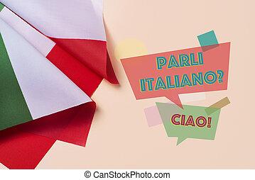 question do you speak Italian? in Italian