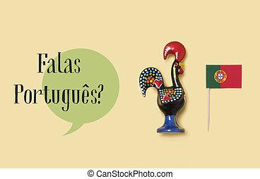 question do you speak Portuguese? in Portuguese