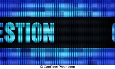 Question Front Text Scrolling LED Wall Pannel Display Sign...