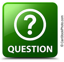 Question green square button