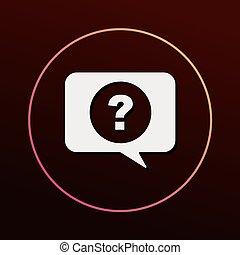 question, icône