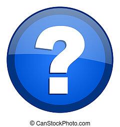 question, icône, marque
