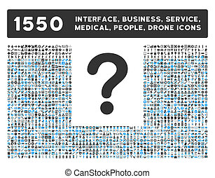 Question Icon and More Interface, Business, Tools, People, Medical, Awards Flat Glyph Icons
