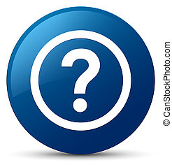 Question icon blue round button